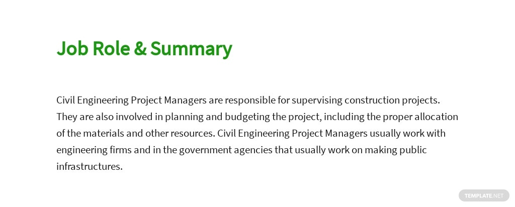 Free Civil Engineering Project Manager Job Description Template 2.jpe