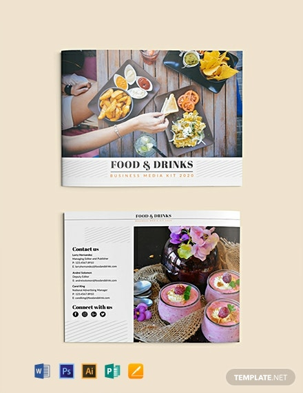Free Food and Drink Business Media Kit Template