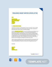 Free Freelance Grant Writer Cover Letter Template