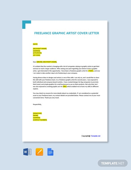 Free Freelance Graphic Artist Cover Letter Template