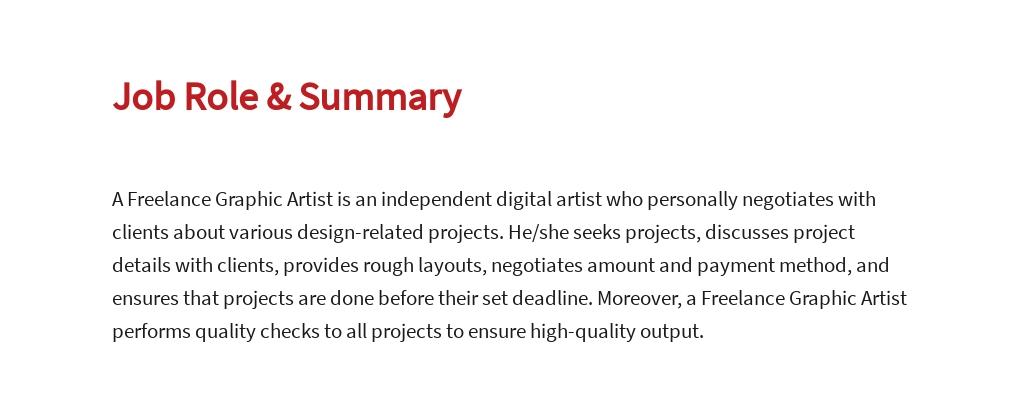 Free Freelance Graphic Artist Job Description Template 2.jpe