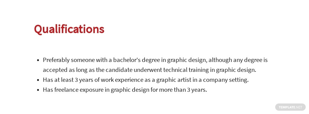 Free Freelance Graphic Artist Job Description Template 5.jpe