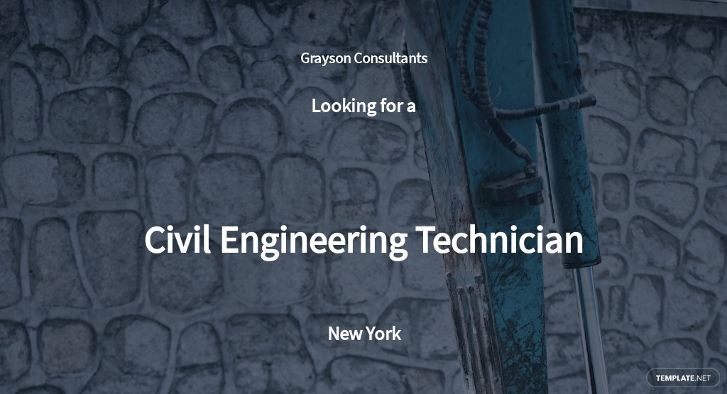Civil Engineering Technician Job Description Template