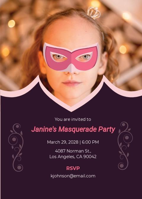 Free Masquerade Invitation Template.jpe