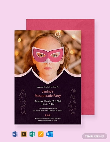 Free Masquerade Invitation Template
