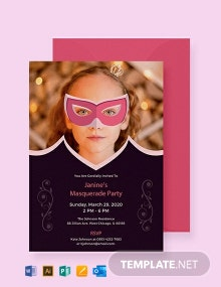Free Masquerade Invitation Template