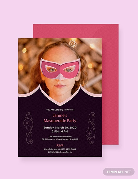 free masquerade invitation template download 344 invitations in