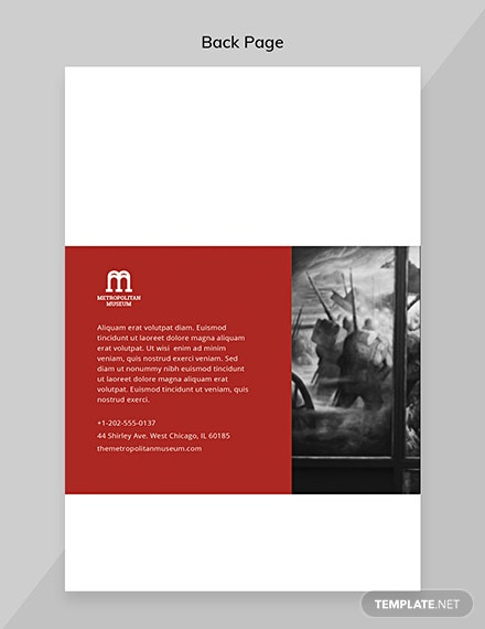 Exhibition Catalog Template Back