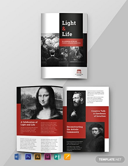 Free Exhibition Catalog Template