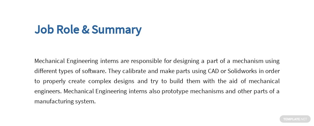Free Mechanical Engineering Internship Job Ad/Description Template 2.jpe