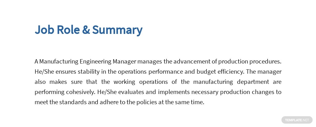 Free Manufacturing Engineering Manager Job Ad/Description Template 2.jpe