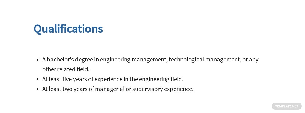 Free Manufacturing Engineering Manager Job Ad/Description Template 5.jpe