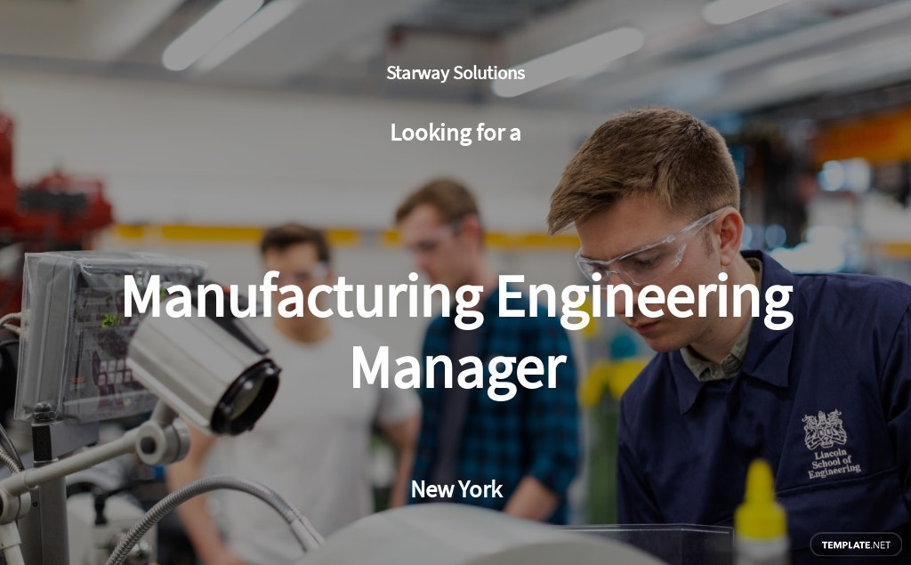 Free Manufacturing Engineering Manager Job Ad/Description Template.jpe