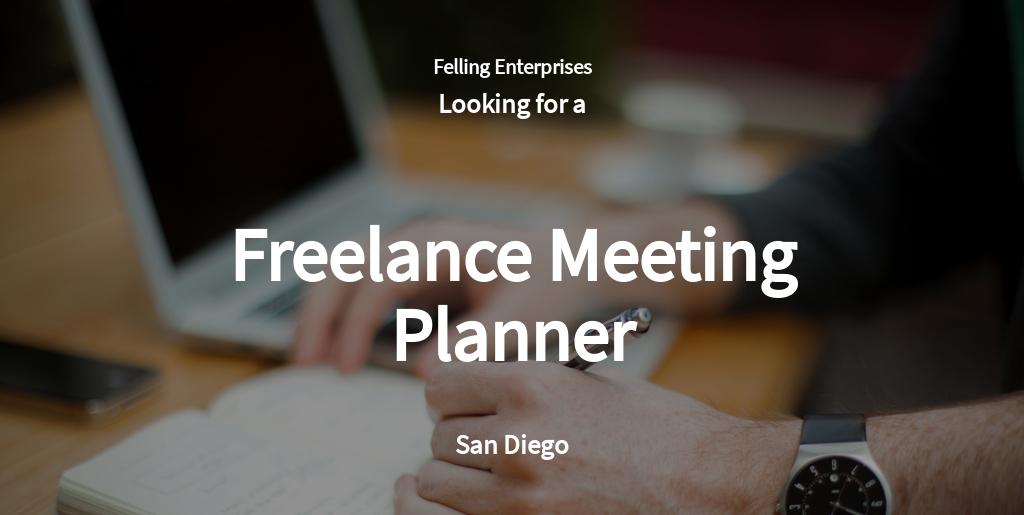 Freelance Meeting Planner Job Ad/Description Template