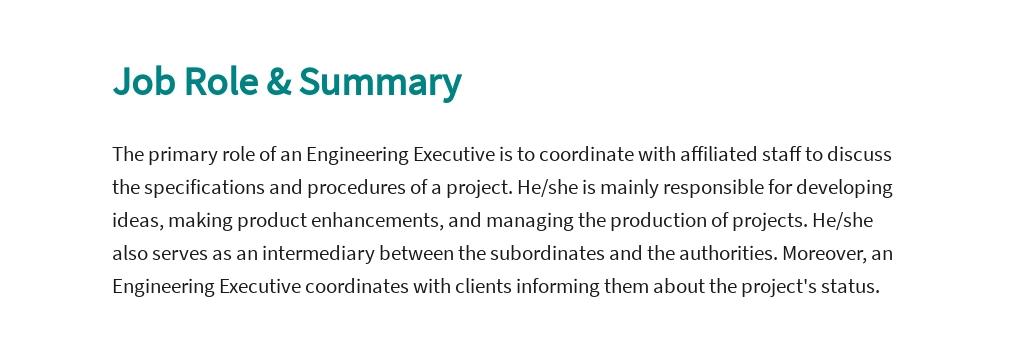 Free Engineering Executive Job Ad/Description Template 2.jpe
