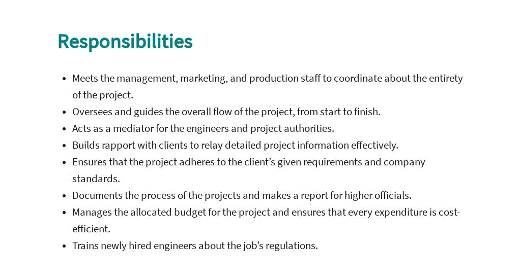 Free Engineering Executive Job Ad/Description Template 3.jpe
