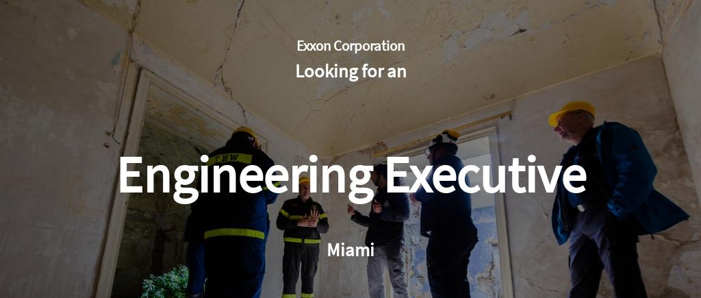 Free Engineering Executive Job Ad/Description Template.jpe