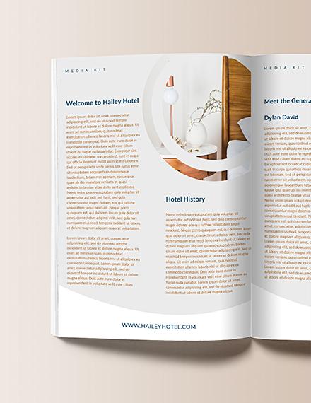 Free Hotel Media Kit Template