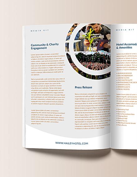 Printable Hotel Media Kit Template