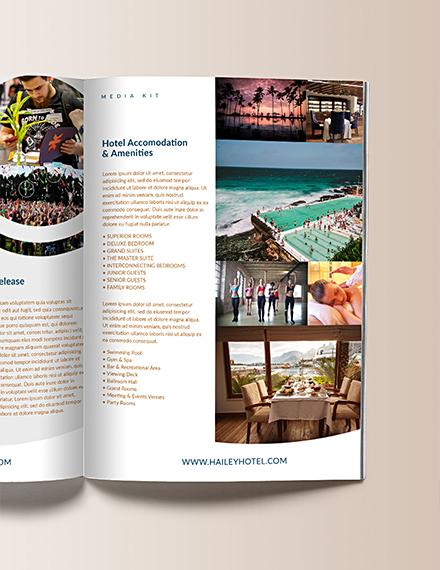 Downloadable Hotel Media Kit Template