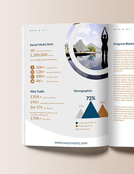 Free Editable Hotel Media Kit Template