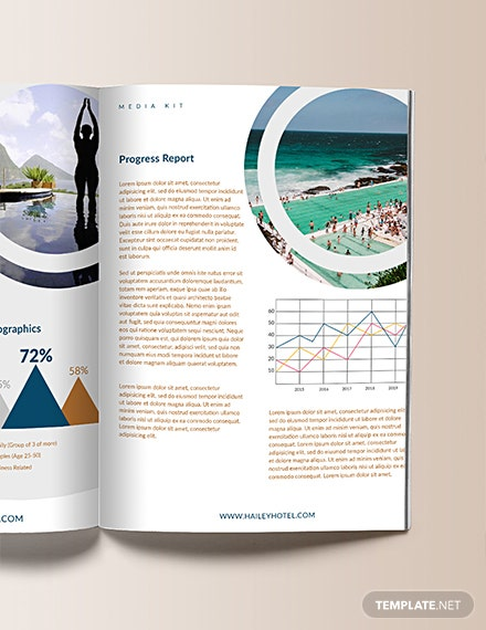 Free Printable Hotel Media Kit Template