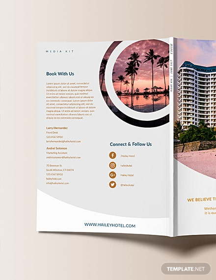 Free Downloadable Hotel Media Kit Template