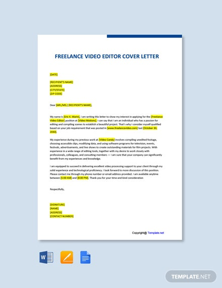 free freelance producer cover letter