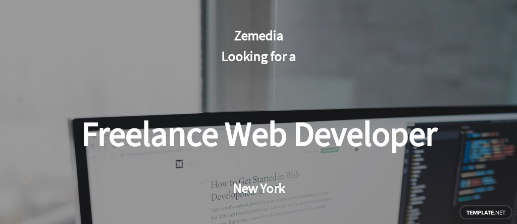 Freelance Web Developer Job Ad and Description Template