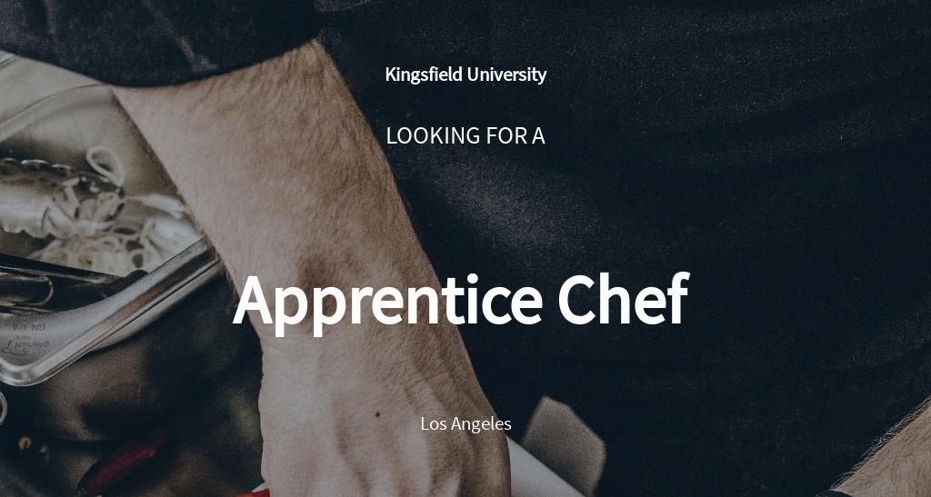 Apprentice Chef Job Description Template [Free PDF ...