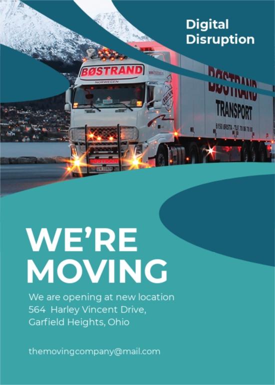 Trucking Logistics Announcement Template