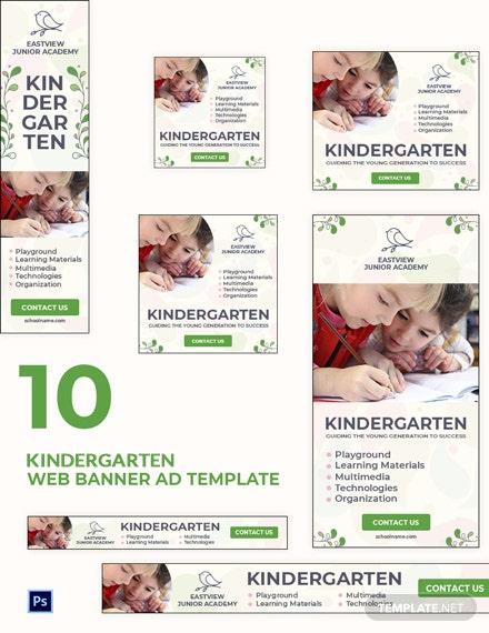 Kindergarten Banner Ads Template