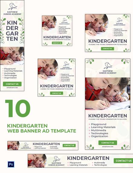 Kindergarten Banner Ads Template