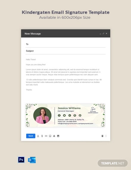 Kindergarten Email Signature Template