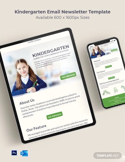 Kindergarten Email Newsletter Template