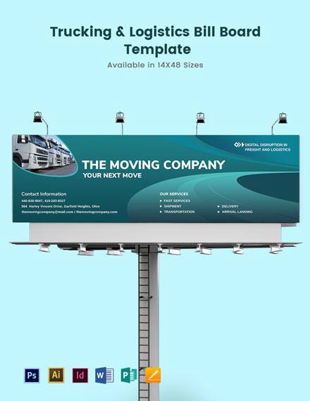 Trucking Logistics Billboard Template