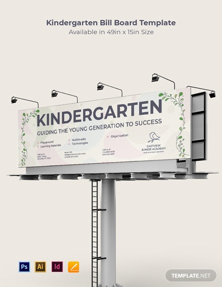 Kindergarten School Billboard Template