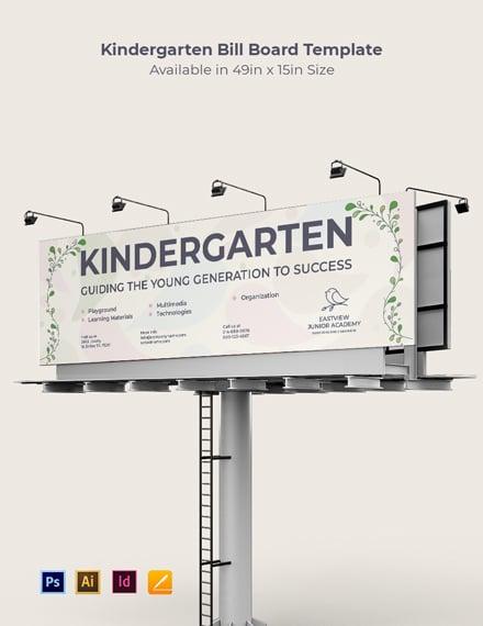 Kindergarten School Billboard