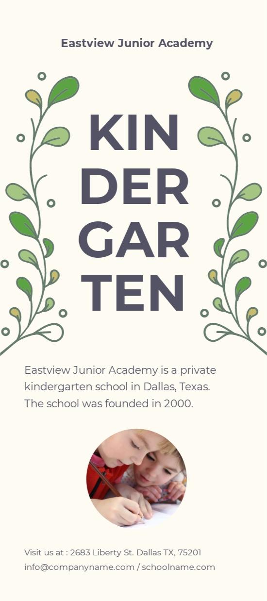 Kindergarten DL Card Template