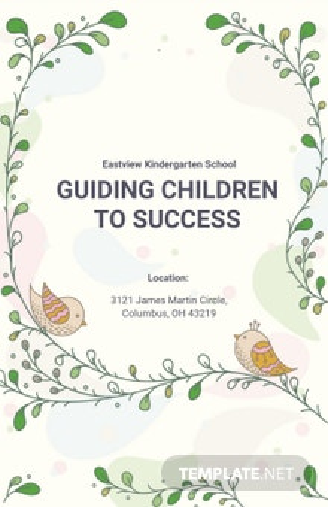 Kindergarten School Poster Template