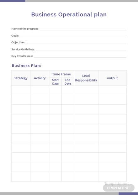 Free business operational plan template download 56 plans in word free business operational plan template friedricerecipe Image collections