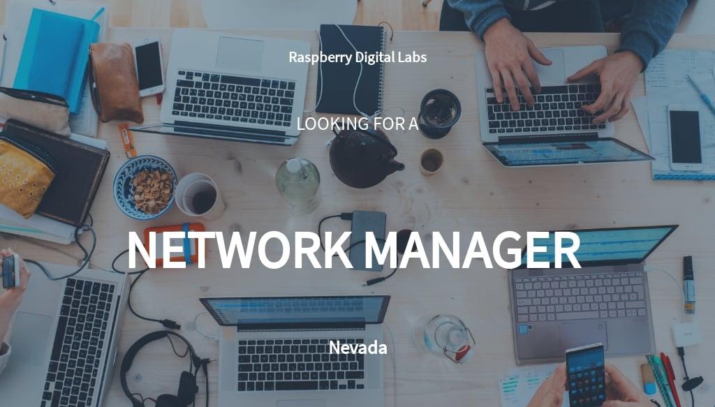Network Manager Job Description Template