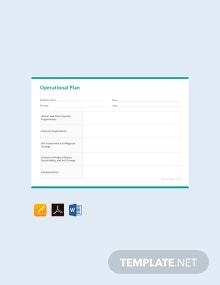 Free Operational Plan Template