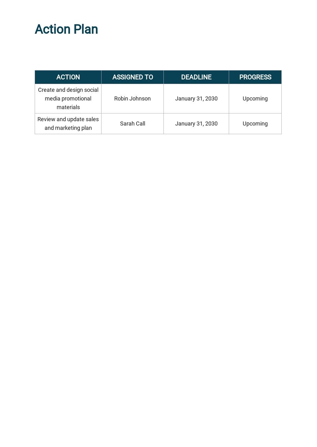 Free Sample Operational Plan Template 3.jpe