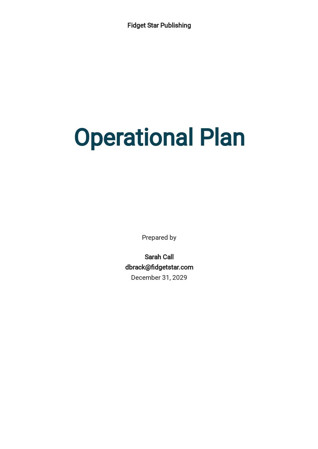 Free Sample Operational Plan Template.jpe