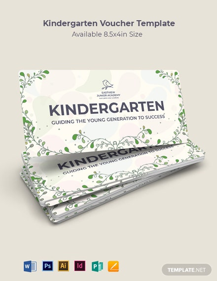 Kindergarten Voucher Template