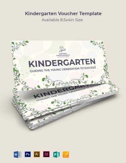 Kindergarten Voucher Template