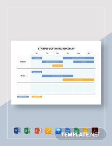 Startup Software Roadmap Template