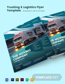 Trucking Logistics Flyer Template