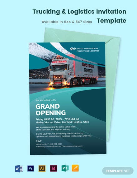 Trucking Logistics Invitation Template
